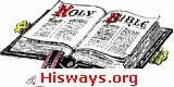 Hisways USA, Inc's open Bible logo.