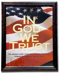 ''In God We Trust''- The National Motto in each classroom.